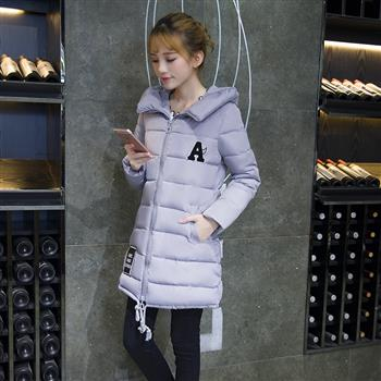 2016冬季新款女羽绒棉服大码修身学生棉袄中长款加厚韩版外套连帽(包邮)
