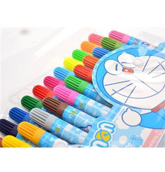 哆啦A夢24色水彩筆可水洗無毒學生畫畫文具套裝