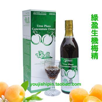 绿盈生机 梅精浓缩青梅汁600ml(台湾原装进口)